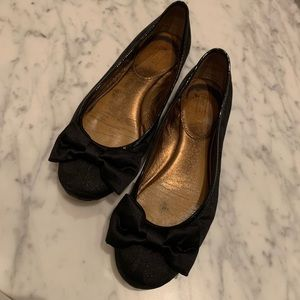 Coach Black Bow Flats